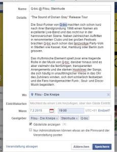 Veranstaltung bei Facebook erstellen