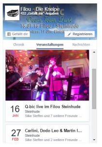 Das Facebook Page Plugin mit Veranstaltungen