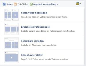 Nun können Facebookseiten ihre Fotos auch als Slideshow oder per Fotokarussell veröffentlichen