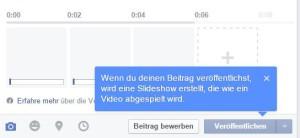 Slideshows lassen sich auf Facebookseiten ganz einfach erstellen