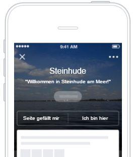 So könnten Tipps zu Orten auf Facebook aussehen