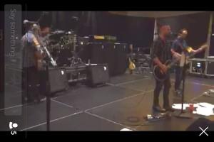 Livestream vom Soundcheck der Band Live bei Periscope