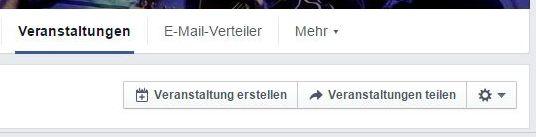 Facebook Veranstaltungen teilen
